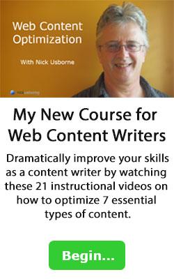 web content optimization