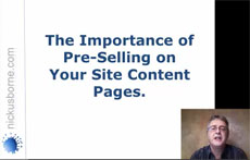 pre-selling web content