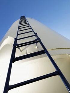 bottom of the ladder