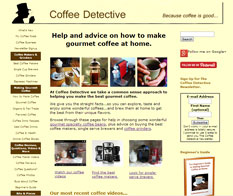 coffee detective website