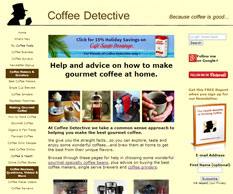 My money making website about coffee