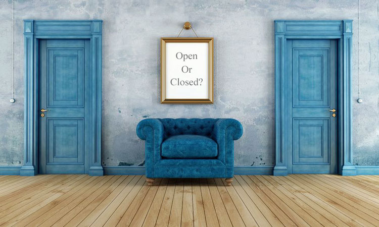 A closed door is like a closed-ended headline.