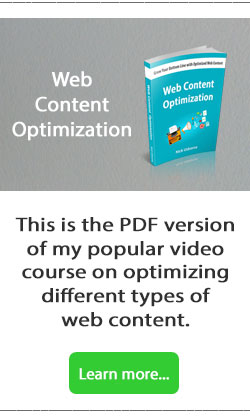 web content optimization course